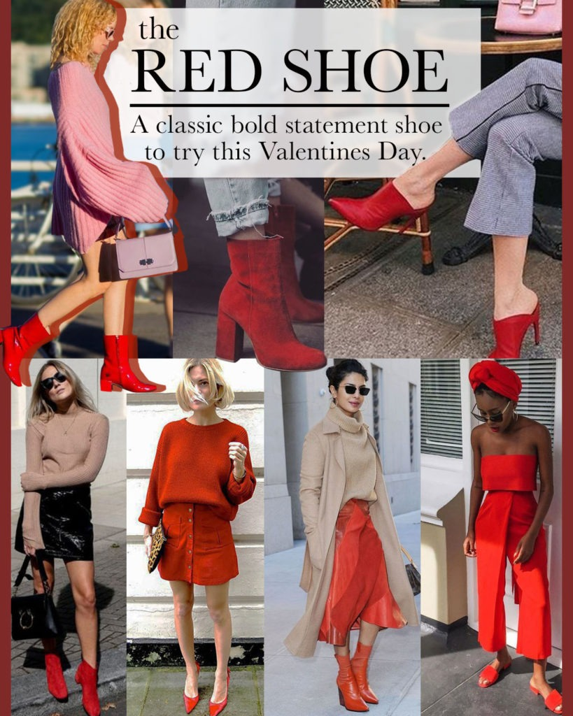 red shoe a classic bold statement shoe mule heels ankle boots booties sandals mules slip on shoes over the knee style valentines day